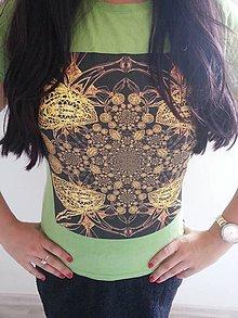 Tričká - Dámske tričko (Zelená) - 8822630_