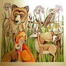 Kresby - v lese - 8822140_