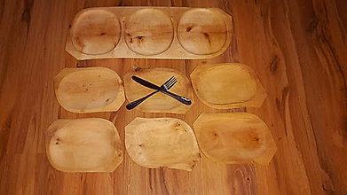 Nádoby - Sada drevenych tanierov - 8818401_