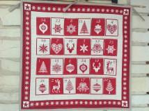 Úžitkový textil - Adventný kalendár - 8819260_