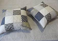 Úžitkový textil - Vankúš - kocky - 8819693_