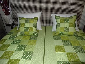 Úžitkový textil - Vankúš - kocky (Zelená) - 8819720_