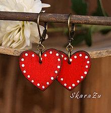 Náušnice - Heart dots mini - 8819849_