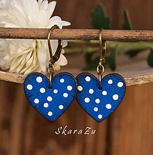 Náušnice - Heart dots mini - 8820331_