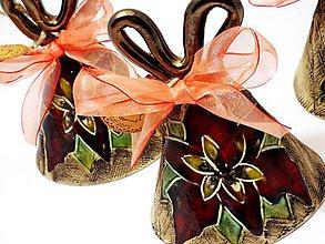 Dekorácie - Zvončeky-zvoníme na Ježiška (s patinou) - 8820601_