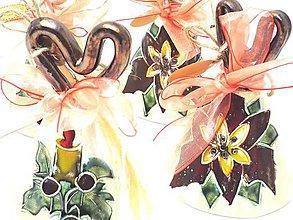 Dekorácie - Zvončeky-zvoníme na Ježiška (glazované celé) - 8820638_