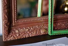 Zrkadlá - Zrkadlo s pozláteným vzorom - 8818118_