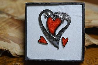 Sady šperkov - srdce..souprava - 8817679_