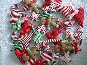 Dekorácie - Bordovo - zlato - béžové vianočné ozdoby (Zelená) - 8821651_