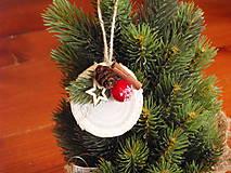 - Vianočné ozdoba na stromček s drevenou hviezdou - 8817395_