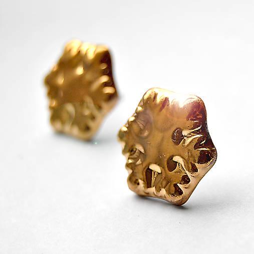 Náušničky / Vločky zlaté