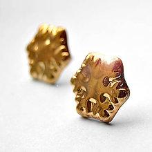 Náušnice - Náušničky / Vločky zlaté - 8817894_
