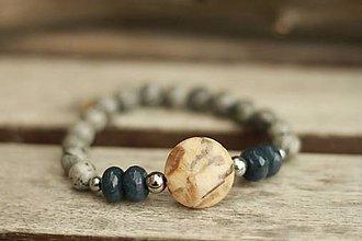 Náramky - Náramok z minerálov jadeit, jaspis - 8820327_
