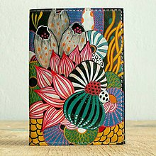 Peňaženky - Jungle - kožená dokladovka/obal na cestovní pas - 8820926_