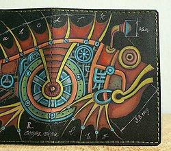 Peňaženky - Steampunk Iron Fish - kožená dokladovka - 8821085_