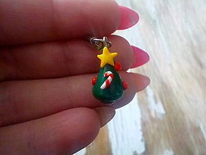 Na mobil - AKCIA! vianočný stromček-prívesok - 8821937_