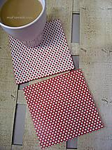 Pomôcky - Podšálky - podložky pod poháre - bodky - 8816868_