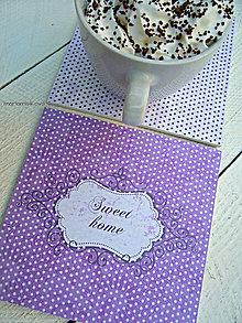 Pomôcky - Podšálky - podložky pod poháre - sweet home - 8816785_