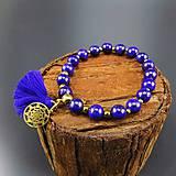 Náramky - Náramek Lapis Lazuli, Hematit, chirurgická ocel - 8825339_