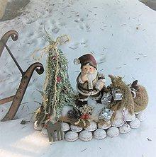 Dekorácie - Mikuláš a batoh plný darčekov,....... - 8826604_