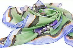 Šatky - MAGALY - maľovaná hodvábna šatka s elegantným vzorom. - 8823744_
