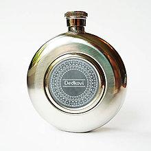 Doplnky - Ploskačka - s nápisom a ornamentom (Dedkovi) - 8824466_