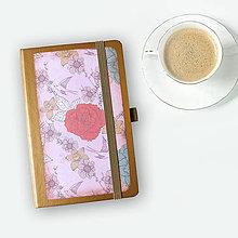 Papiernictvo - zápisník A6 - VINTAGE - 8825962_