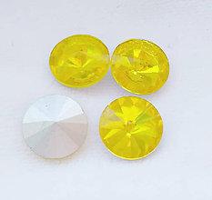 Korálky - Brúsený kabošón, žltý - 14mm - 8824552_