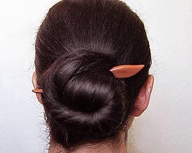 Ozdoby do vlasov - Drevená ihlica na počkanie, 3-5 dní - 8827127_