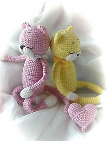 Hračky - Mačička ružová - 8823103_