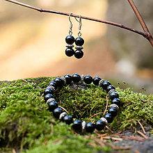 Sady šperkov - Obsidiánový set - 8827953_