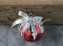 Dekorácie - vianočné ozdoby_ červené - 8828470_