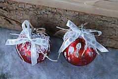 Dekorácie - vianočné ozdoby_ červené - 8828504_