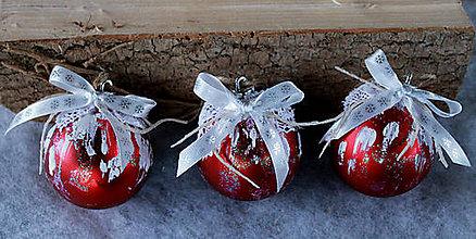 Dekorácie - vianočné ozdoby_ červené - 8828450_
