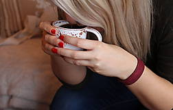 Náramky - Korkový náramok bordo - 8825600_