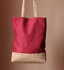 Veľké tašky - Korková taška Simple bordo - 8824483_
