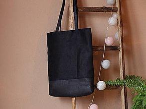 Kabelky - Korková taška Simple black - 8824545_