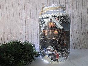 Svietidlá a sviečky - Vianočný svietnik - 8828063_