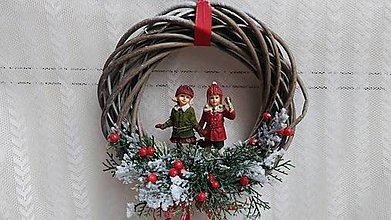 Dekorácie - Vianočný veniec ...deti - 8827478_