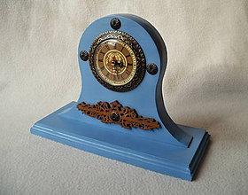 Hodiny - Drevené hodiny Modré - 8825954_