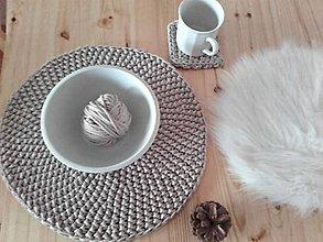 Úžitkový textil - Prestieranie Scandinavia capuccino - 8824023_