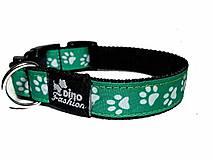 Pre zvieratká - Zelený obojok Labky - 8823959_