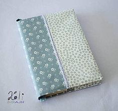 Papiernictvo - Obal na knihu kvetinkový šedý - 8826662_