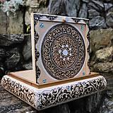 """Krabičky - Šperkovnica """"Prvý sneh"""", so zrkadlom - 8823377_"""