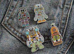 Odznaky/Brošne - Brošničková naivita :) - robot - 8823558_
