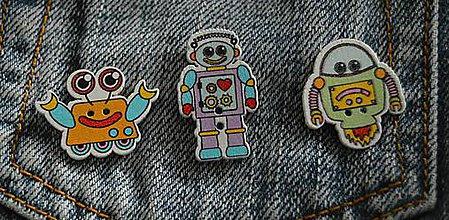 Odznaky/Brošne - Brošničková naivita :) - robot - 8823581_