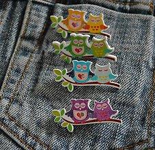 Odznaky/Brošne - Brošničková naivita :) sovičky - 8823616_