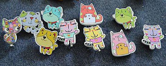 Odznaky/Brošne - Brošničková naivita :) mačičky - 8823681_