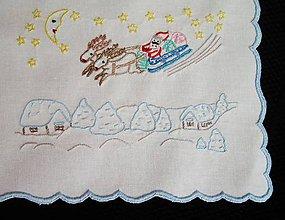 Úžitkový textil - Vyšívaný obrus č.1 - Vianoce - 8822945_