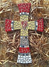Dekorácie - Kríž perličkový - 8825754_